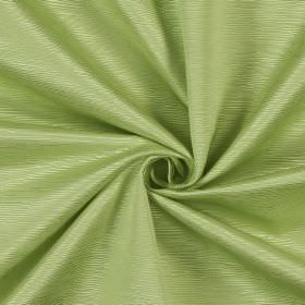 Bamboo - Apple - Short, narrow, ridged lines covering this very pale green-white fabric made from cotton