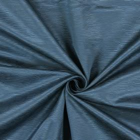 Bamboo - Colonial - Fabric made from bright blue cotton, with short, horizontal ridges running through it