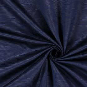 Bamboo - Midnite - Dark blue ridged cotton fabric