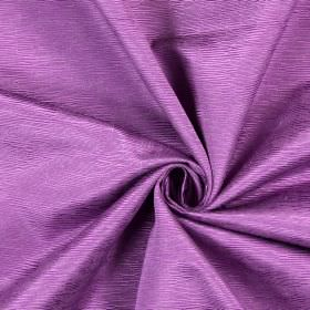 Bamboo - Violet - Light bright purple cotton fabric patterned with small lines of different lengths and widths which are ridged and raised