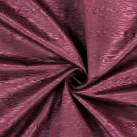 Bamboo - Plum - Dark red-purple coloured fabric made from cotton, with a pattern of horizontal ridges which all have different lengths