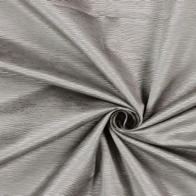 Bamboo - Seal - Ridges of different lengths in cream-grey cotton, put together into this fabric
