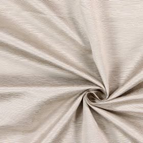 Bamboo - Stone - Light grey-beige fabric made from cotton, with a ridged pattern of small horizontal lines of different lengths