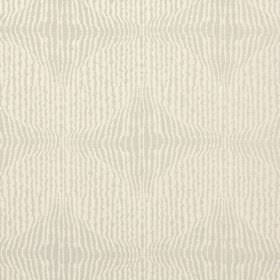 Jessamine - Chartreuse - Polyester-cotton blend fabric in cream and very pale brown, with a pattern of uneven lines running vertically down