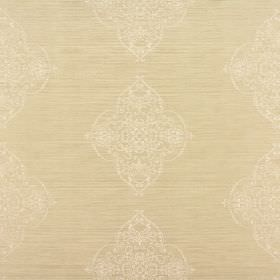 Estelle - Burnished - Very subtly patterned 100% poylester fabric which comes in a warm cream colour and has a slight sheen to it