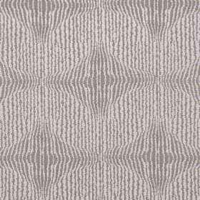 Jessamine - Taupe - Grey and white uneven, random vertical stripes patterning fabric with a 67% polyester and 33% cotton content