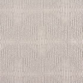 Jessamine - Dusk - Fabric made from polyester and cotton with uneven vertical stripes in two different but similar shades of cream