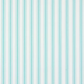 Tai - Paradise - Aqua blue and white striped 100% cotton fabric