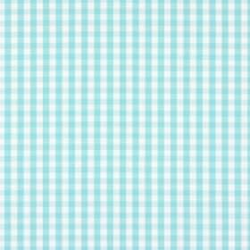 Siam - Paradise - Gingham patterned 100% cotton fabric in aqua blue and white
