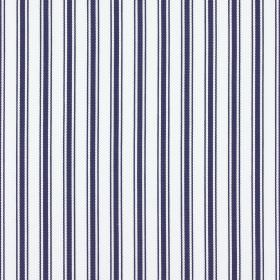 Deck - Marine - 100% cotton fabric with a pattern of simple vertical stripes in white and very dark grey