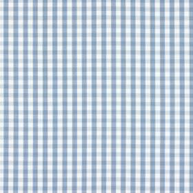 Captain - Denim - Marine blue and white 100% cotton fabric with a gingham checked design