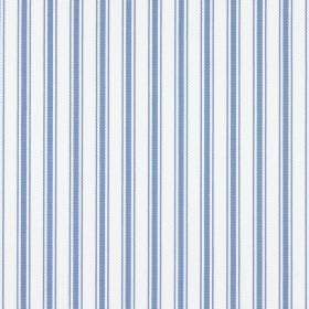 Deck - Denim - White and light marine blue stripes on fabric made from 100% cotton