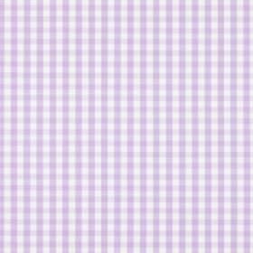 Siam - Lavender - Light purple and white 100% checked fabric with a simple checked design