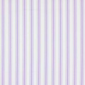 Tai - Lavender - Simply striped 100% cotton fabric in white and lavender