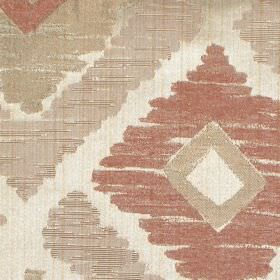 Meknes - Amber - Amber brown diamond patterned fabric