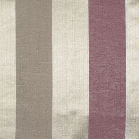 Zagora - Mulberry - Mulberry purple and gold striped fabric