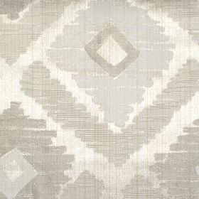Meknes - Linen - Linen grey diamond patterned fabric