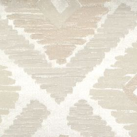 Meknes - Oyster - Oyster white diamond patterned fabric