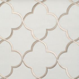 Agadir - Oyster - Oyster white classic pattern on light green fabric