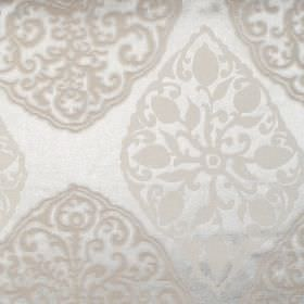 Tarfaya - Oyster - Oyster white classic pattern on white fabric