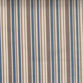 Nador - Denim - Denim blue and brown striped fabric