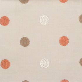 Fez - Amber - Amber orange dots on sandy fabric