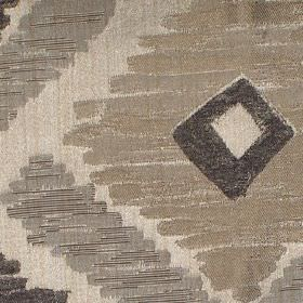 Meknes - Ash - Ash brown diamond patterned fabric