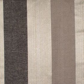 Zagora - Ash - Ash grey and gold striped fabric