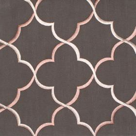 Agadir - Ash - Light brown classic design on ash brown fabric