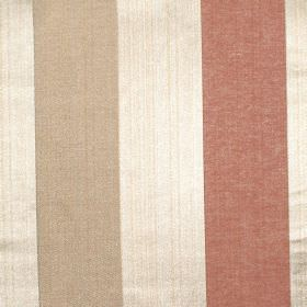 Zagora - Amber - Amber orange and gold striped fabric