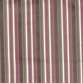 Nador - Mulberry - Mulberry purple and black striped fabric