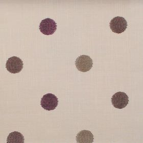 Fez - Mulberry - Mulberry purple dots on sandy fabric