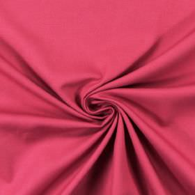 Panama - Petunia - Swatch of bright, rose pink coloured fabric made from unpatterned cotton