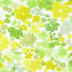 Cassandra - Mimosa - Fabric made from white cotton, printed with a simple floral design in various different shades of green
