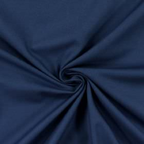 Panama - Navy - Unpatterned cotton fabric made in a plain denim blue colour