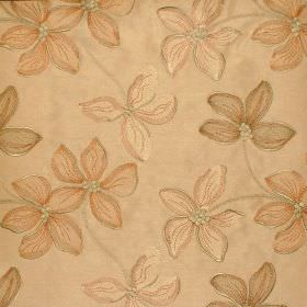 Spray - Antique - Floral impressions on antique orange fabric