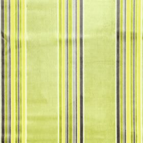 Parador - Mimosa - Striped fabric with a rayon and polyester blend in various shades of lime green and grey