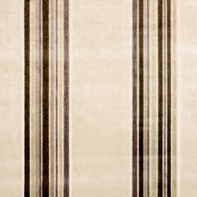 Parador - Parchment - Rayon-polyester fabric featuring a vertical striped design in colours such as brown, beige, light green, purple and gr