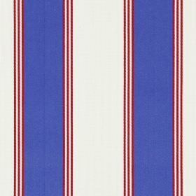Stowe - Nautical - Nautical red, blue and white striped fabric made from cotton