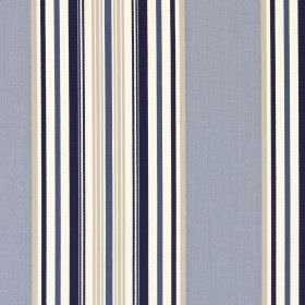 Hampstead - Oxford - Fabric made from cotton with a striped design in grey, cream, white and very dark blue-grey