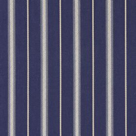 Walden - Oxford - Simple grey and dark denim blue striped fabric made from cotton