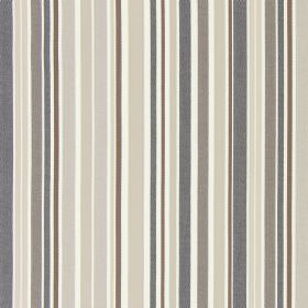 Glastonbury - Beechwood - Fabric made from cotton which has been striped in several different shades of brown