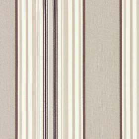 Hampstead - Beechwood - Cotton fabric striped in different black, white, mocha and caramel shades