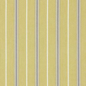 Walden - Jonquil - Light creamy yellow coloured cotton fabric, with narrow, vertical light grey and white stripes