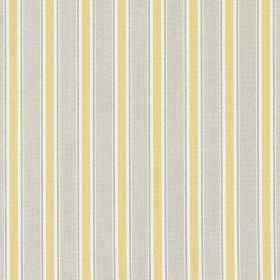 Kingsley - Jonquil - Cotton fabric featuring a repeated stripe design in very light grey and green-gold