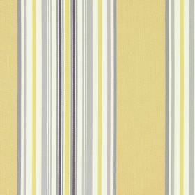 Hampstead - Jonquil - Light grey, light yellow, light beige and white striped fabric made from cotton