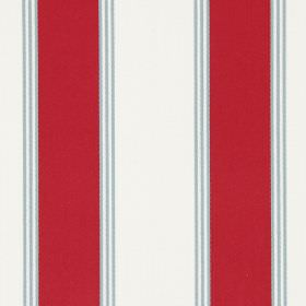 Stowe - Cherry - Dark red, off-white and light grey stripes as this cotton fabric's pattern