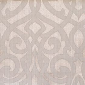 Salisbury - Oatmeal - Oatmeal brown fabric with classic swirl design