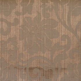 Newbury - Walnut - Walnut brown fabric with classic floral pattern