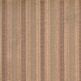 Stratford - Walnut - Bronze fabric with walnut brown stripes